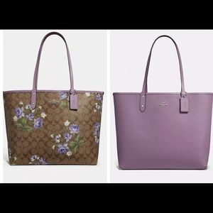 Coach Reversible City Tote Signature Canvas Lily